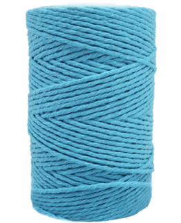 Cordon de algodon turquesa