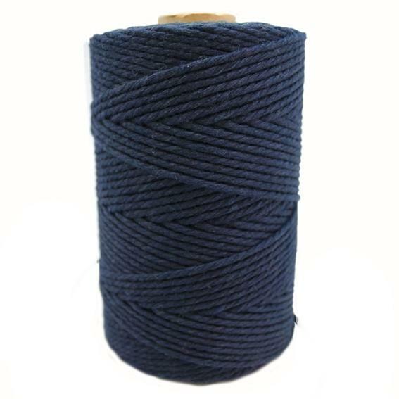Cordao de algodao cor azul marinho