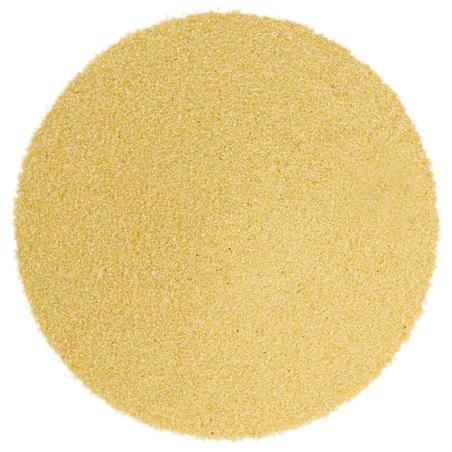 Areia fina de cor amarelo ovo
