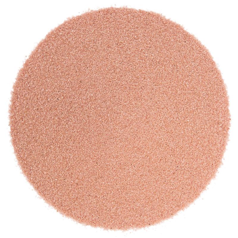 Areia fina de cor rosa claro