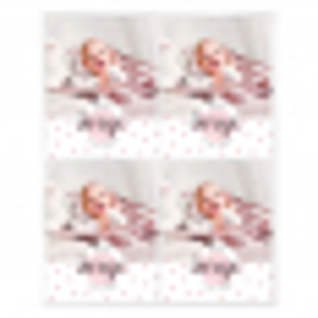 Pegatinas topos rosas personalizadas con foto