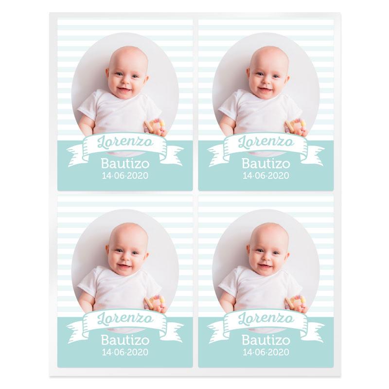 Pegatinas rayas personalizadas con foto