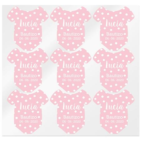 Pegatinas rosas personalizadas body bebe