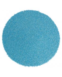 Areia de cor azul claro