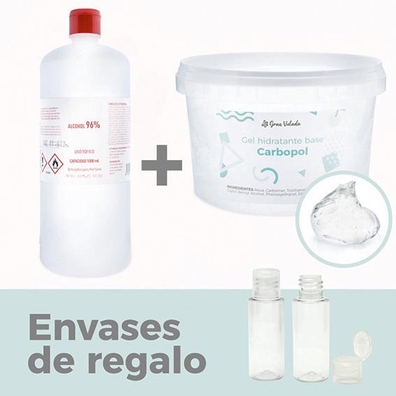 Pack para hacer 1650 ml de desinfectante de manos