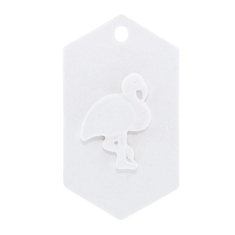Molde placa com flamingo
