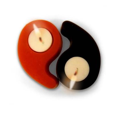 "Molde para fazer velas ""Ying-yang"""