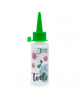Bote 60 ml gel desinfectante tapon biberon verde
