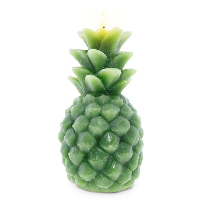 Vela de abacaxi cor verde