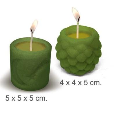 """Molde para hacer velas """"2 velas navideñas"""""""