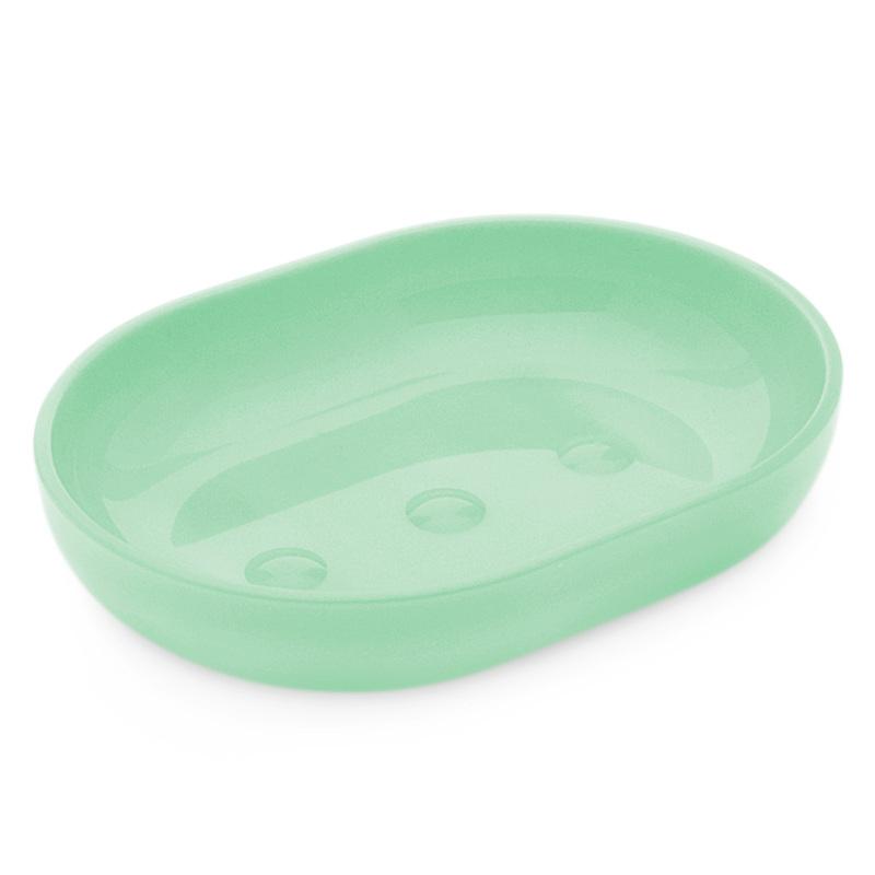 Jabonera verde de plastico