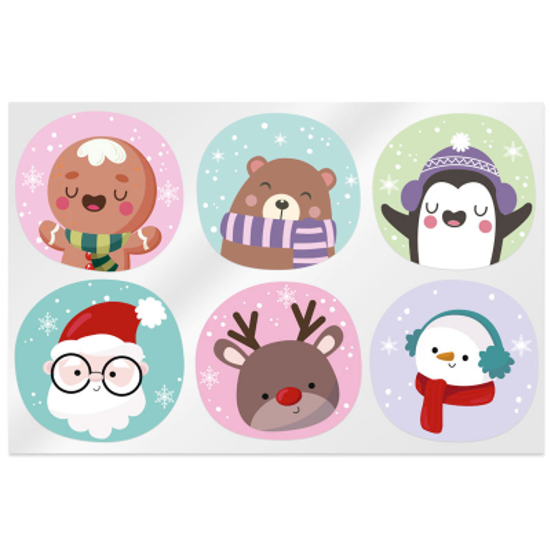 Pegatinas mix personajes de Navidad