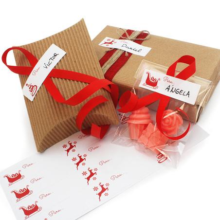 Pegatinas regalos de navidad nombres