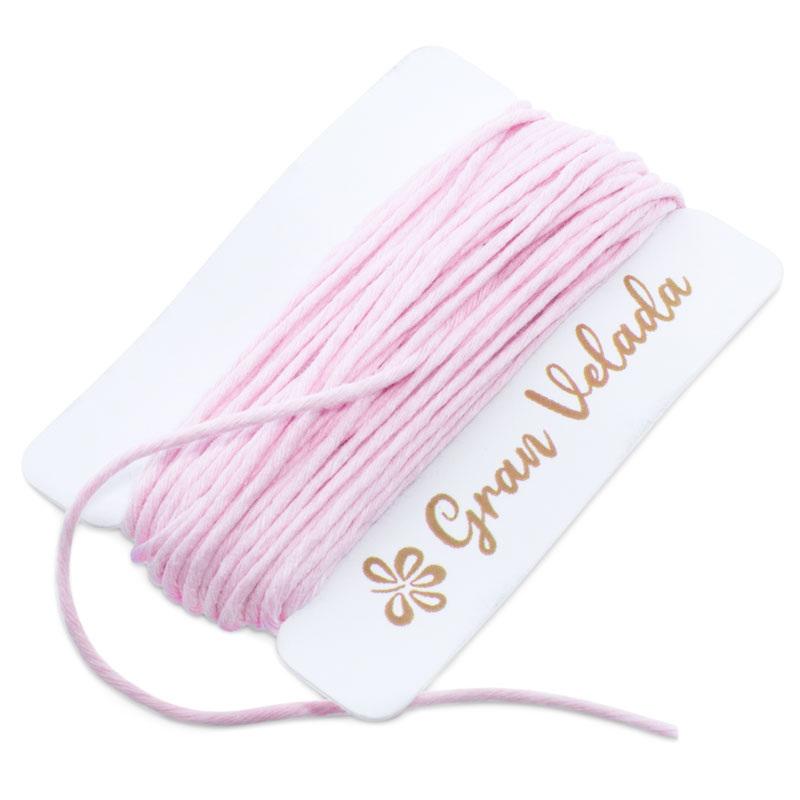 Cuerda rosa de algodon pulido