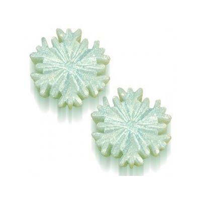 Molde para fazer sabonetes, 2 estrelas de neve