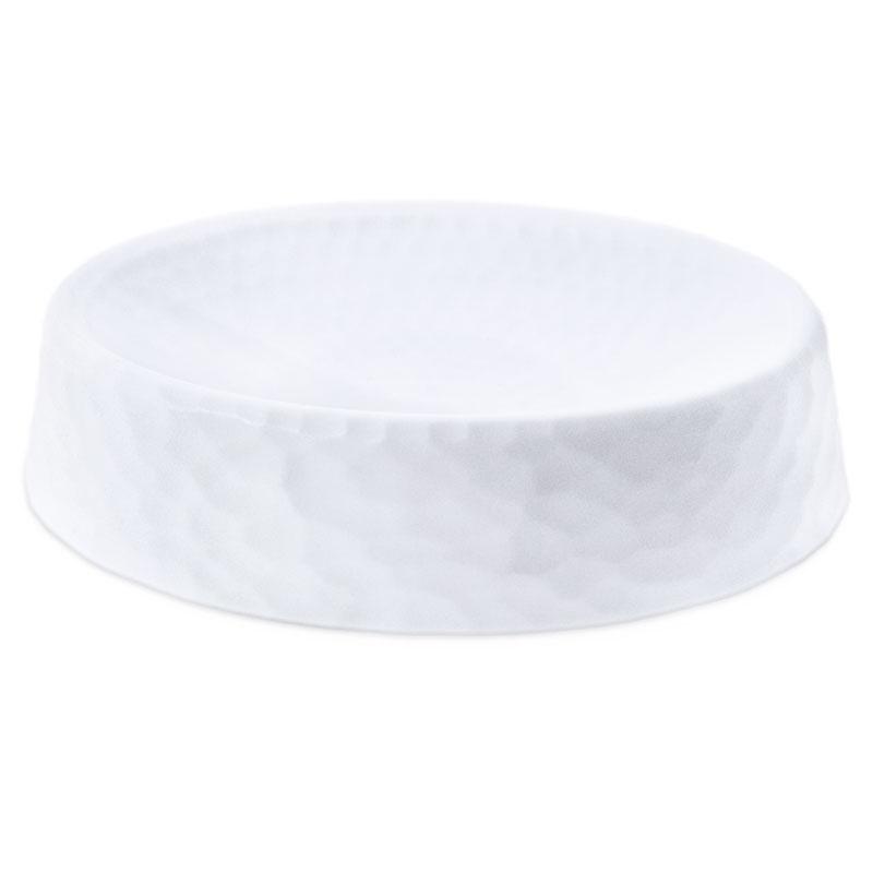 Jabonera ovalada de plastico blanca