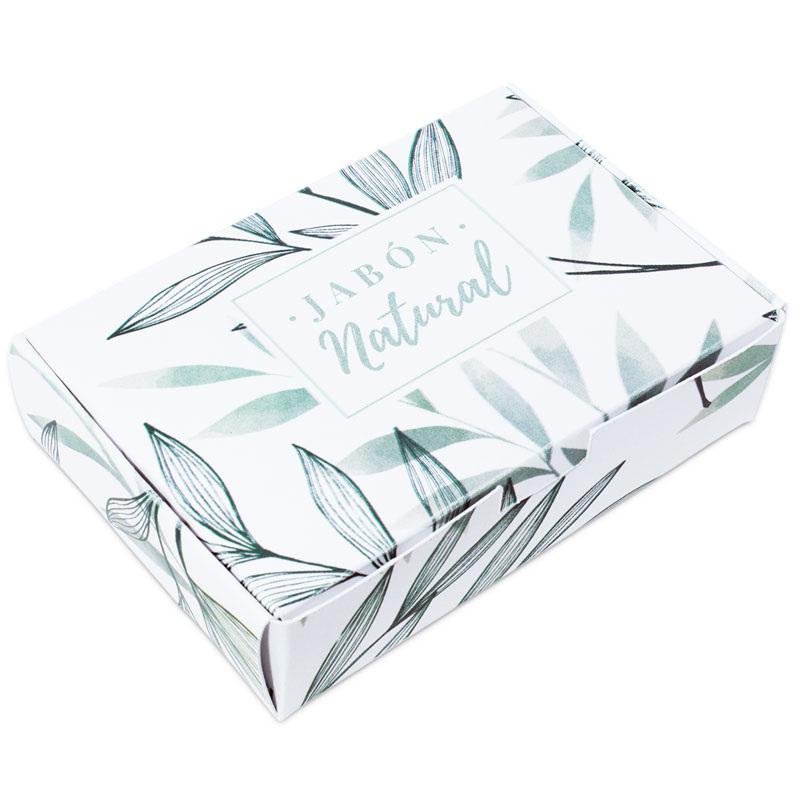Caja para jabones estampado vegetal