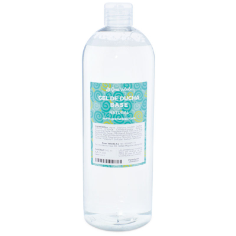 Gel de banho base natural