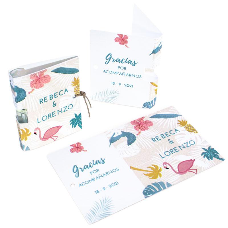 Carton personalizado tropical para mini perfumes