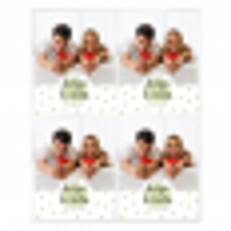 Pegatinas topos verdes bodas personalizadas con foto