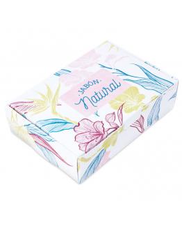 Caixa de sabonete com flores