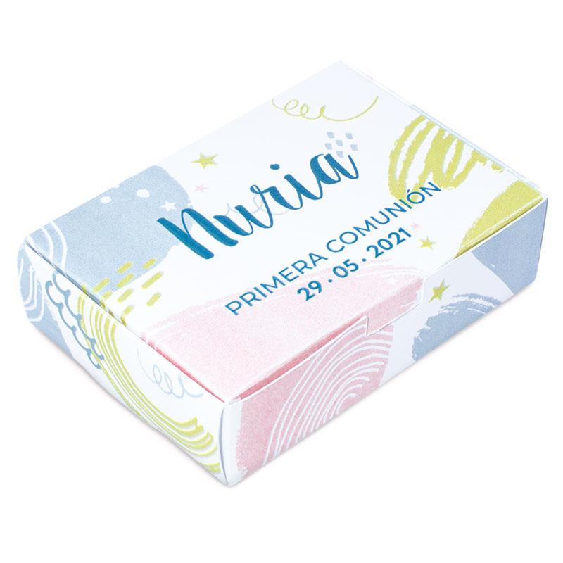Caixa personalizada colorida para sabonetes
