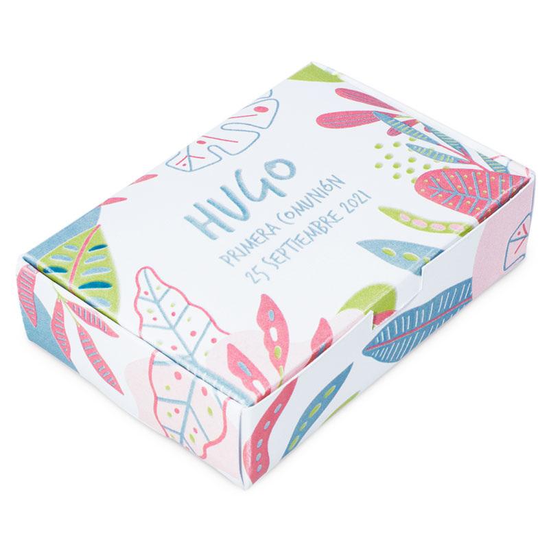 Caja personalizada tropical para jabones