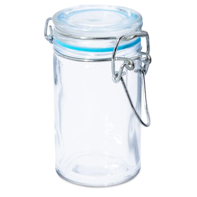 Tarro de cristal 100 ml con cierre hermetico