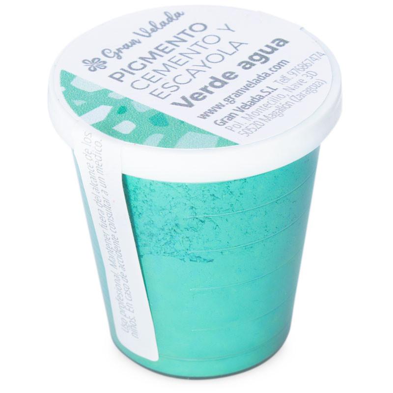 Pigmento verde agua para cemento y escayola