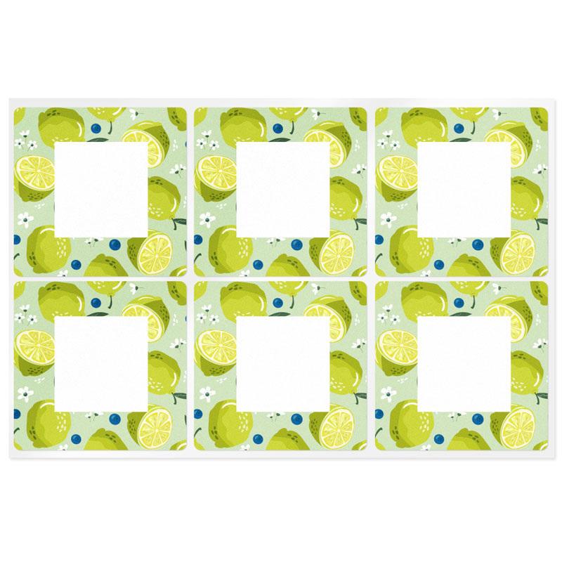 Adesivos quadrados citrus