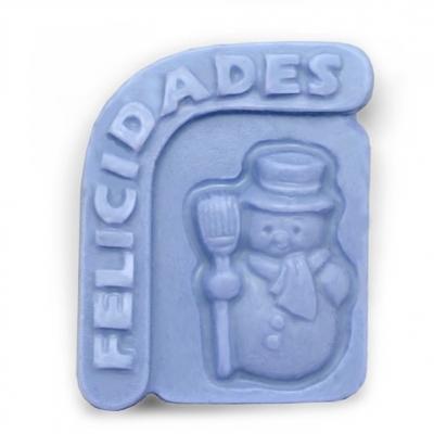 Molde para jabon muñeco de nieve felicidades