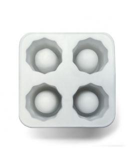 Forma de silicone 4 copos de gelo