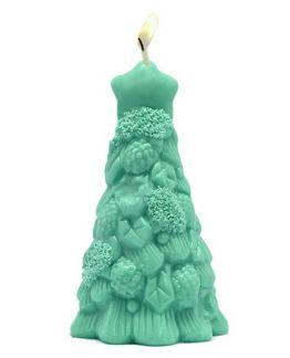 Molde para hacer velas navideñas abeto con piñas
