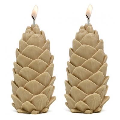 Molde velas 2 piñas silvestres
