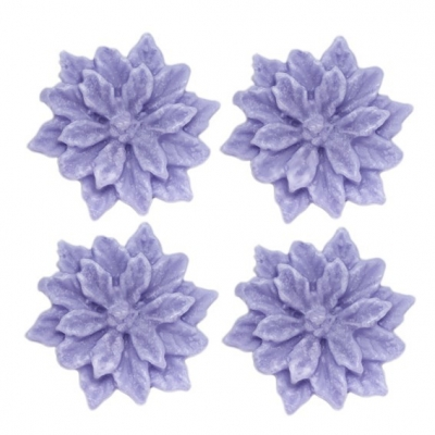 Molde 4 flores de pascua