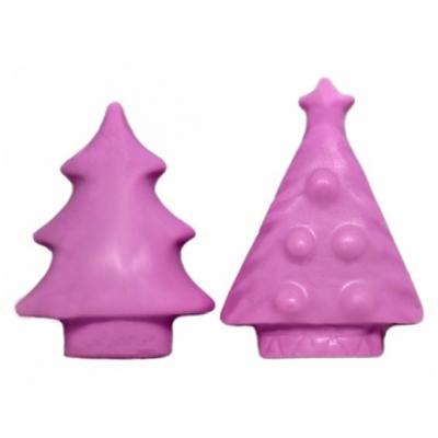 Molde 2 pastillas jabon Arbolitos navideños