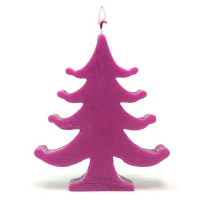 Molde velas navidad Arbol Grande con Bolitas