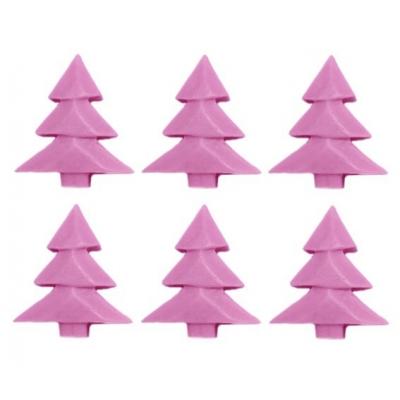 Molde 6 arboles de navidad para velas pick