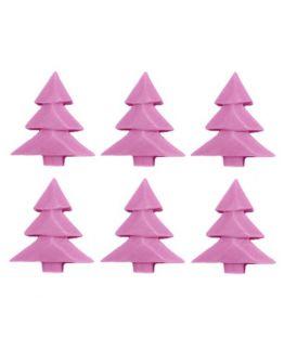 6 Velinhas Palito de árvore de natal, molde de silicona