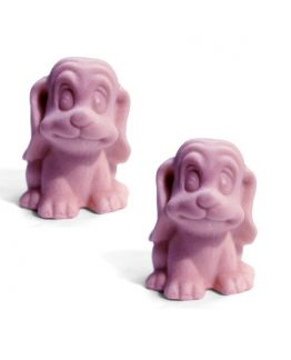 Cachorrinhos Carinhosos, molde para fazer 2 sabonetes