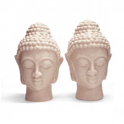 Molde Dos Cabezas de Buda Gemelas Grandes