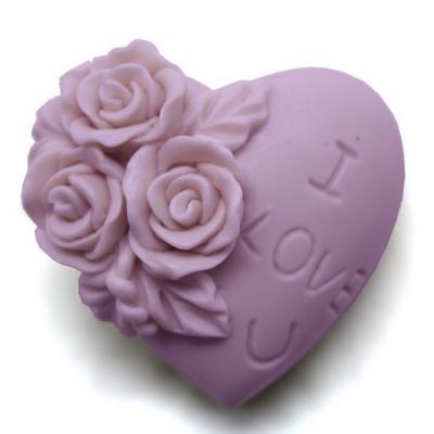 Molde para hacer jabón Corazón I love you