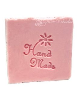 Sello para jabones flor hand made diy