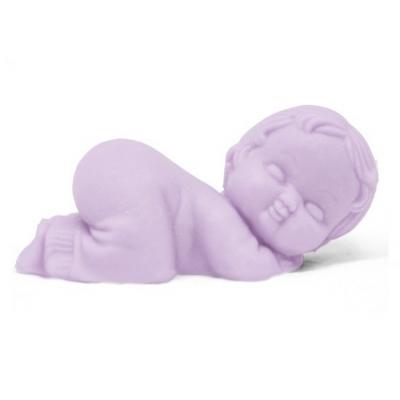 Molde para detalhe de batismo, bebê em pijama pequeno.