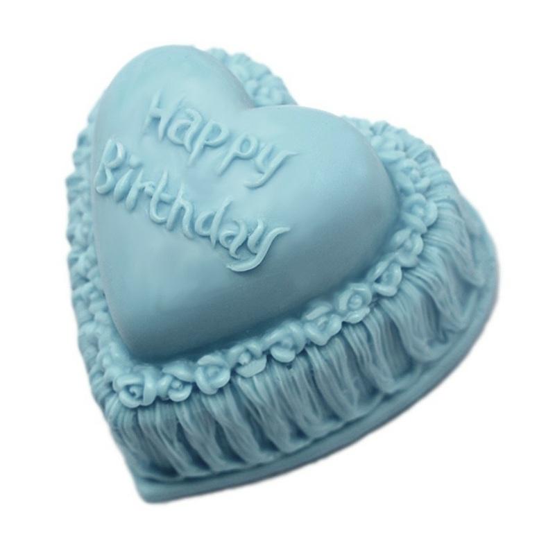 Molde Sabonete Coração Feliz Aniversário