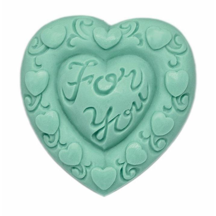 Molde coração p/ sabonete, For You