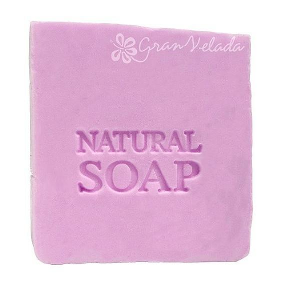 Carimbo para sabonetes, circular Natural Soap.
