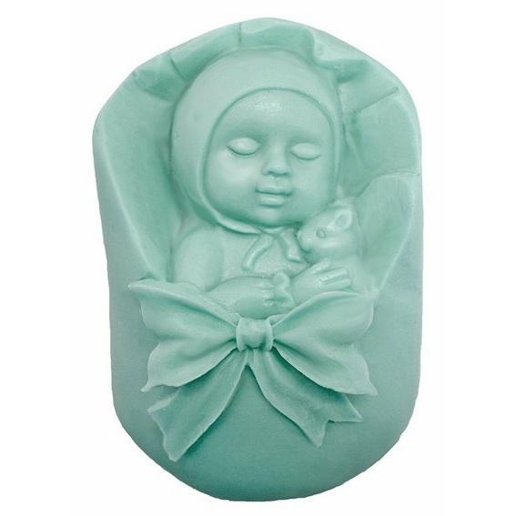 Molde pastilha de sabonete bebe na alcofa