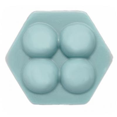 Molde para hacer jabon masajeador hexagonal con bolitas