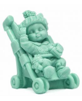 Bebé no carrinho em 3D